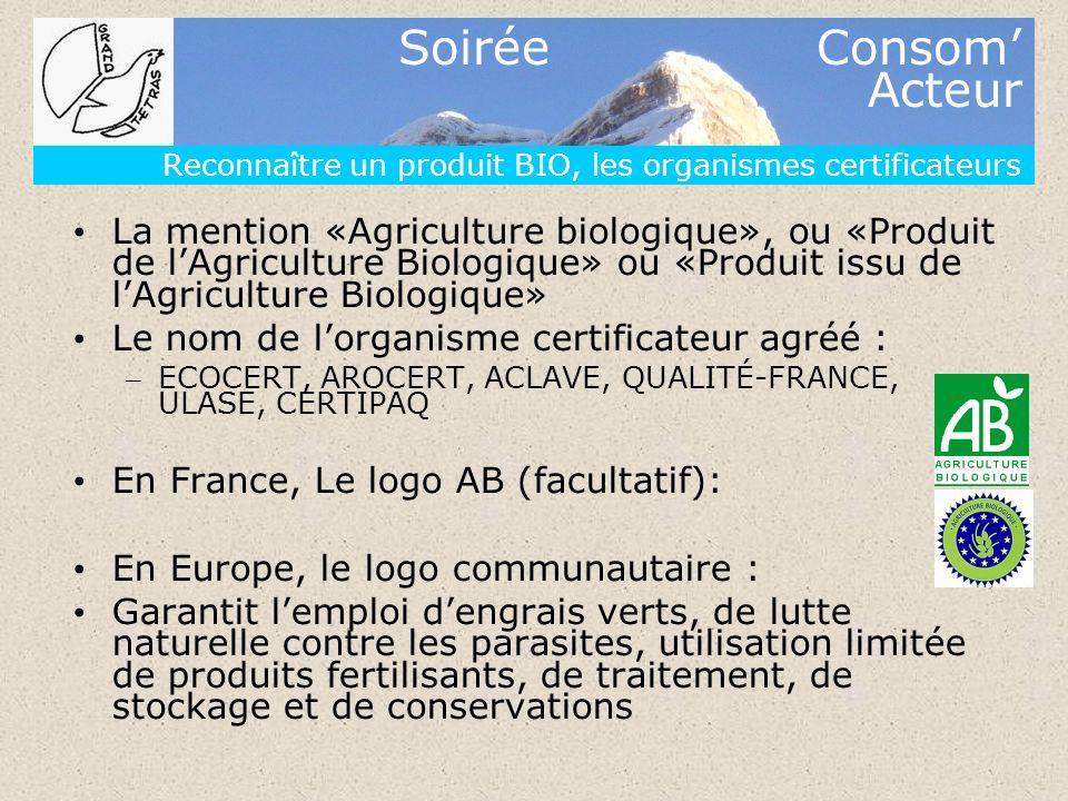 Reconnaître un produit BIO, les organismes certificateurs