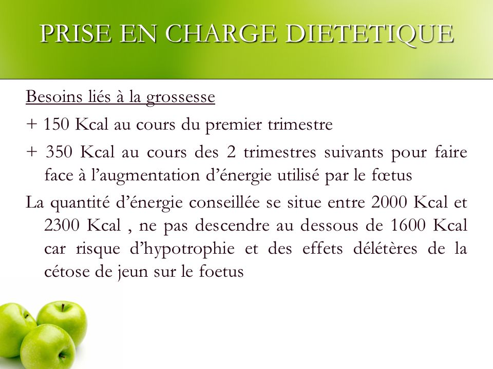 PRISE EN CHARGE DIETETIQUE