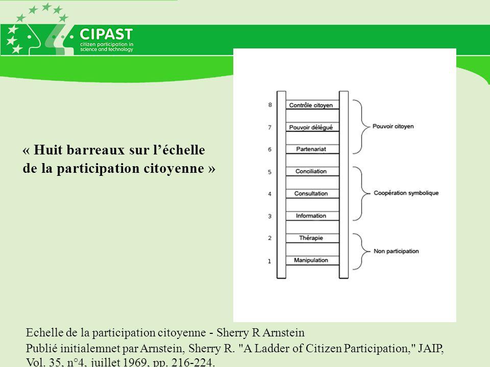 « Huit barreaux sur l'échelle de la participation citoyenne »