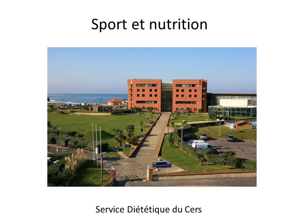 Sport et nutrition Service Diététique du Cers 1