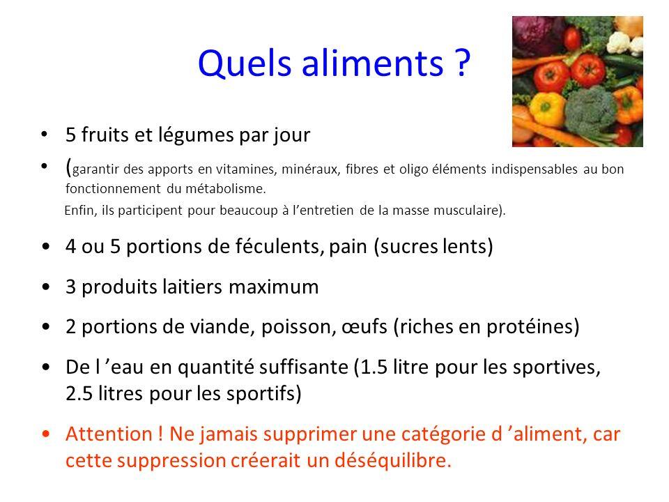 Quels aliments 5 fruits et légumes par jour