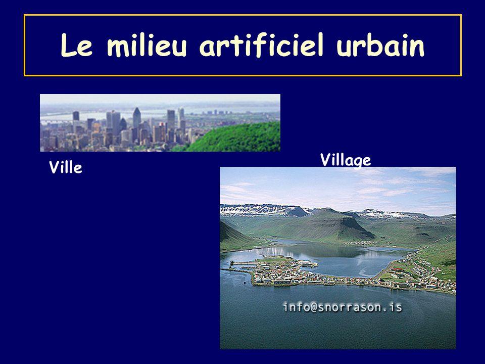 Le milieu artificiel urbain