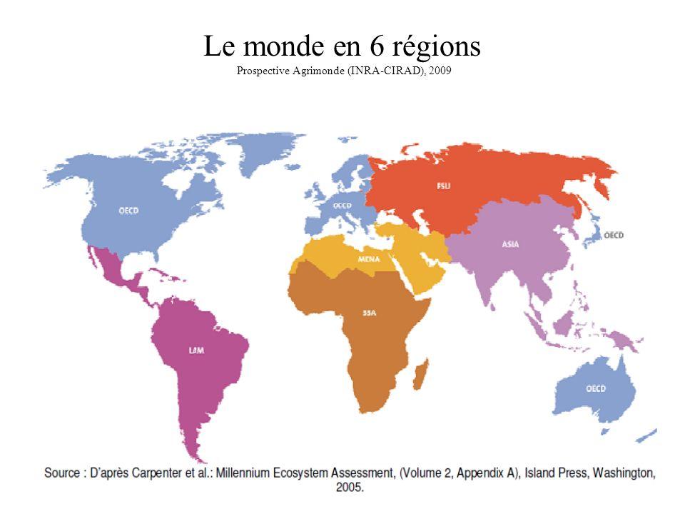 Le monde en 6 régions Prospective Agrimonde (INRA-CIRAD), 2009