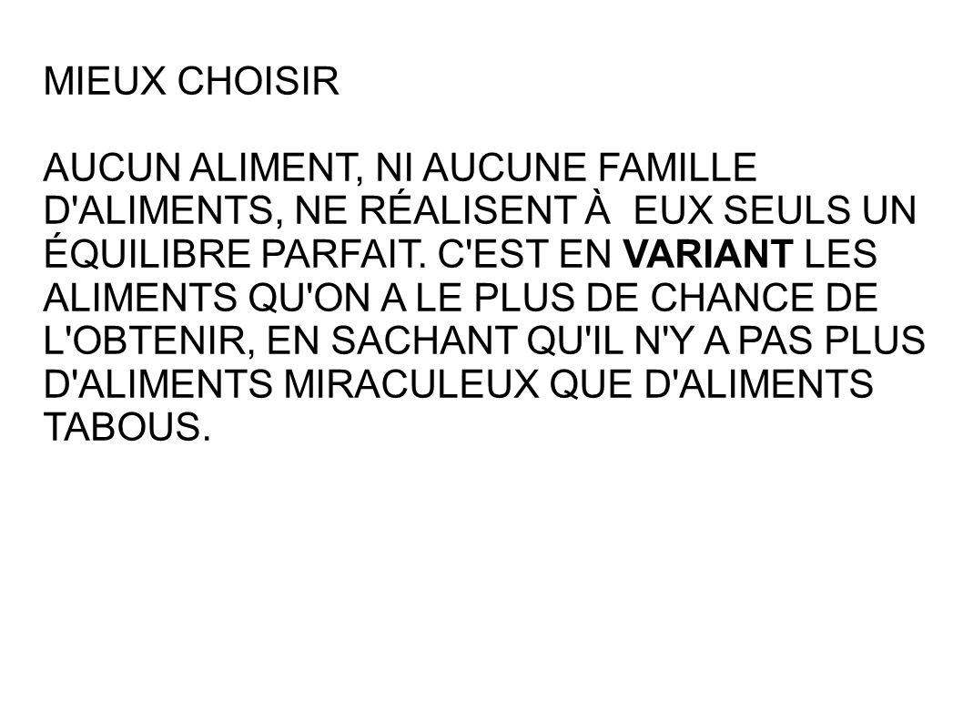 MIEUX CHOISIR