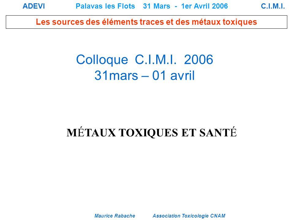 Colloque C.I.M.I. 2006 31mars – 01 avril