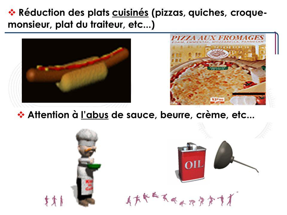 Attention à l'abus de sauce, beurre, crème, etc...