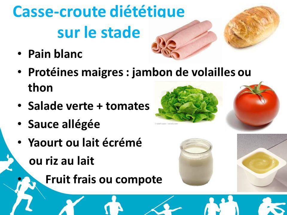 Casse-croute diététique sur le stade