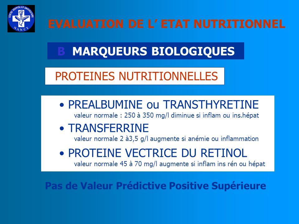 B MARQUEURS BIOLOGIQUES