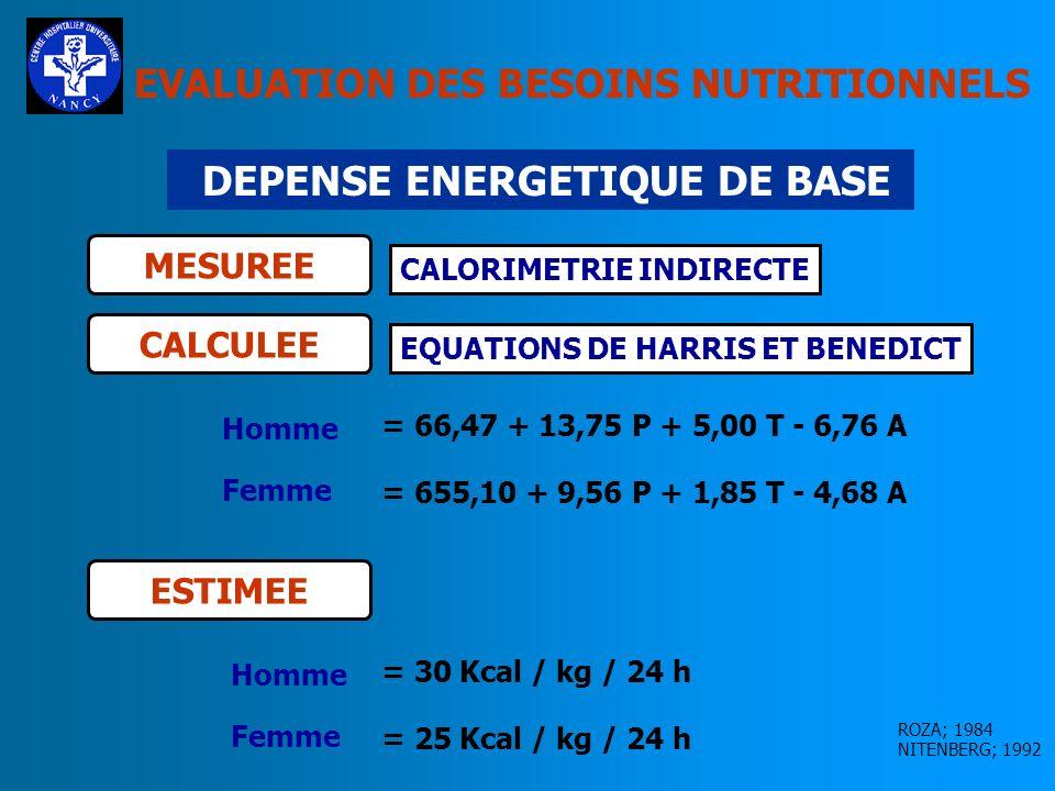 DEPENSE ENERGETIQUE DE BASE
