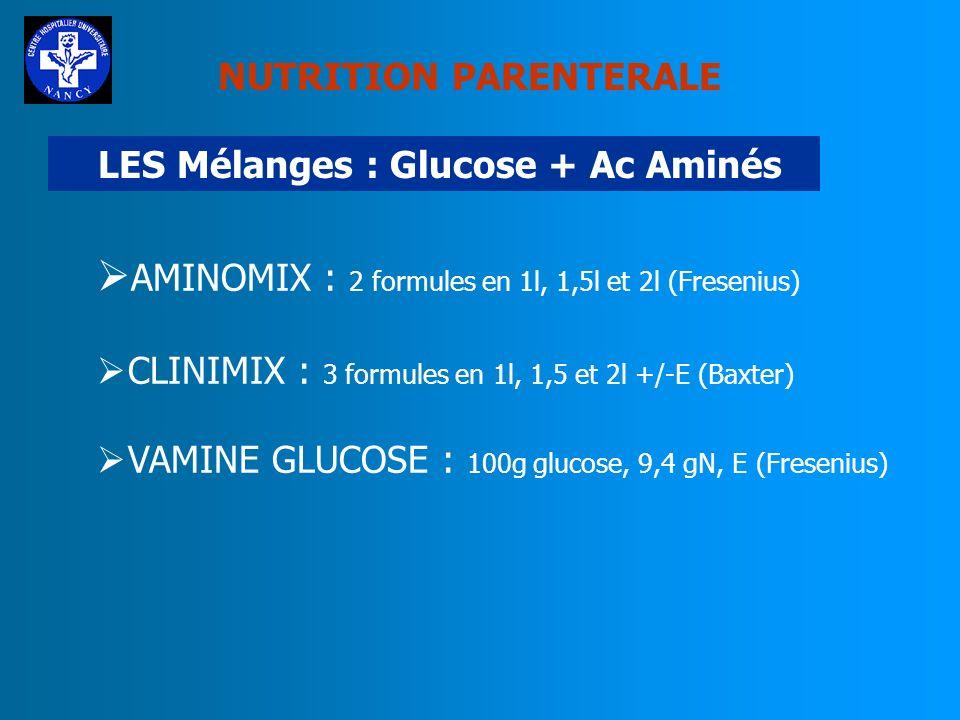LES Mélanges : Glucose + Ac Aminés