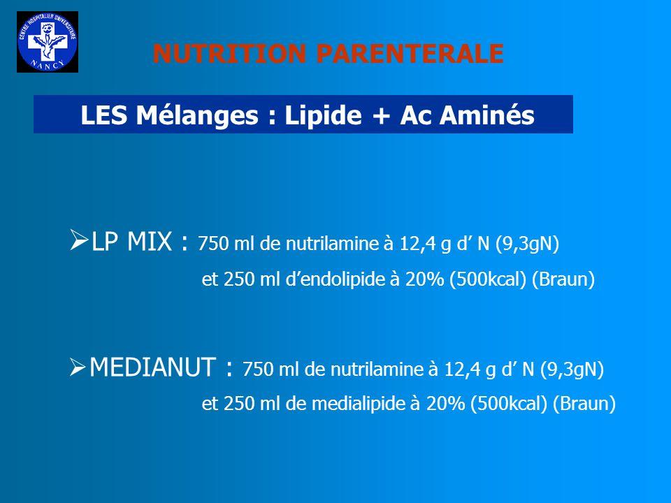 LES Mélanges : Lipide + Ac Aminés