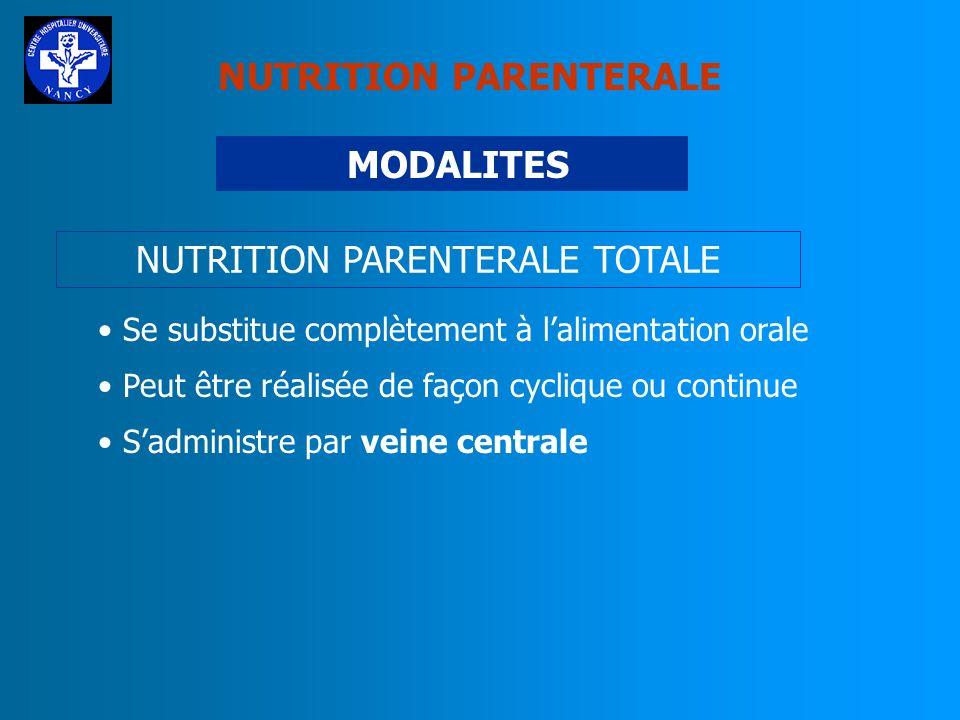 NUTRITION PARENTERALE TOTALE