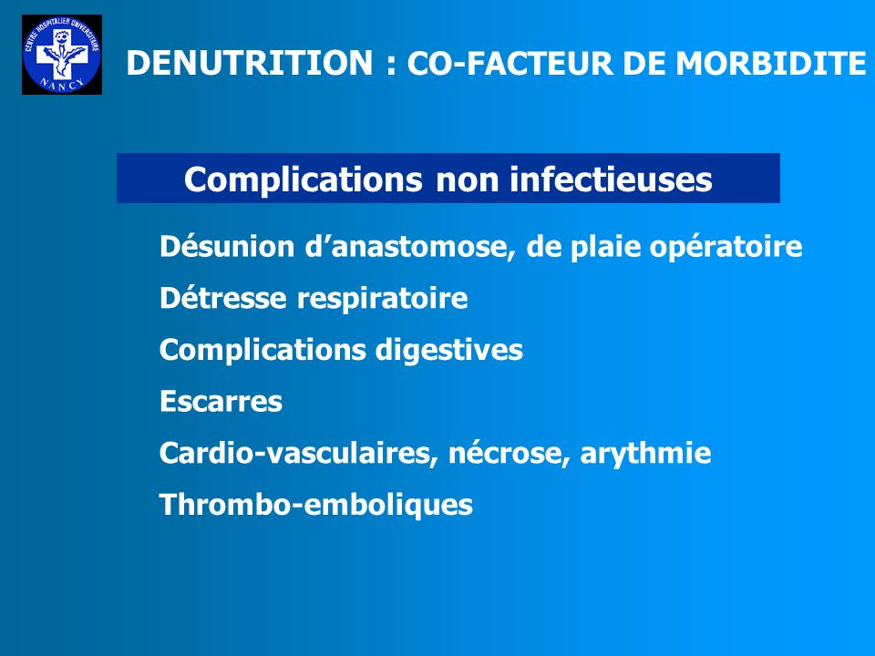 Complications non infectieuses