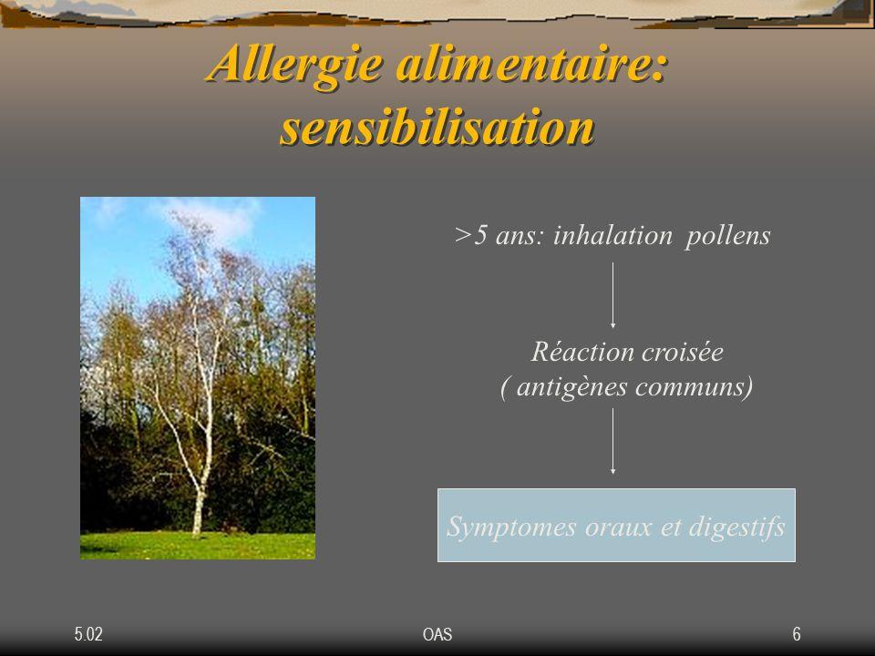 Allergie alimentaire: sensibilisation