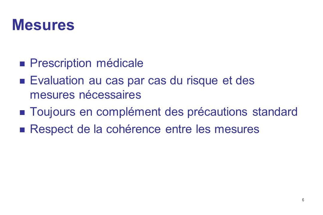 Mesures Prescription médicale