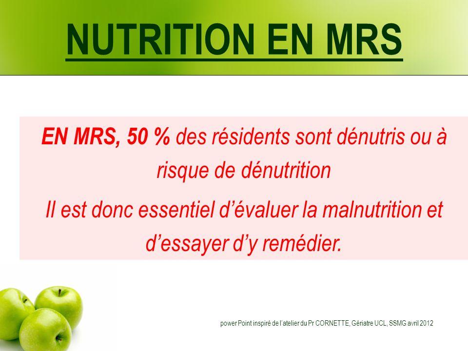 EN MRS, 50 % des résidents sont dénutris ou à risque de dénutrition
