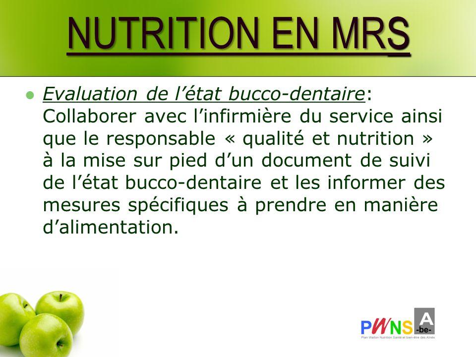 NUTRITION EN MRS
