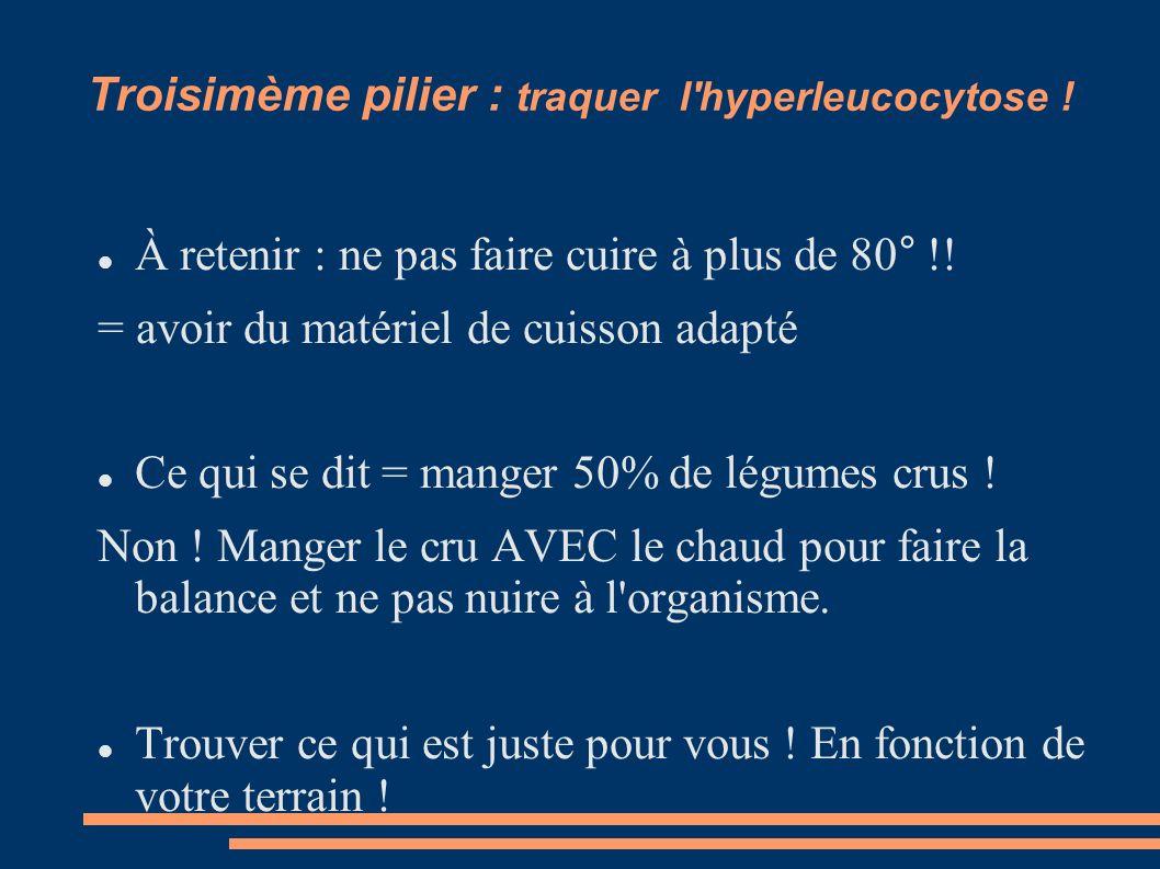 Troisimème pilier : traquer l hyperleucocytose !