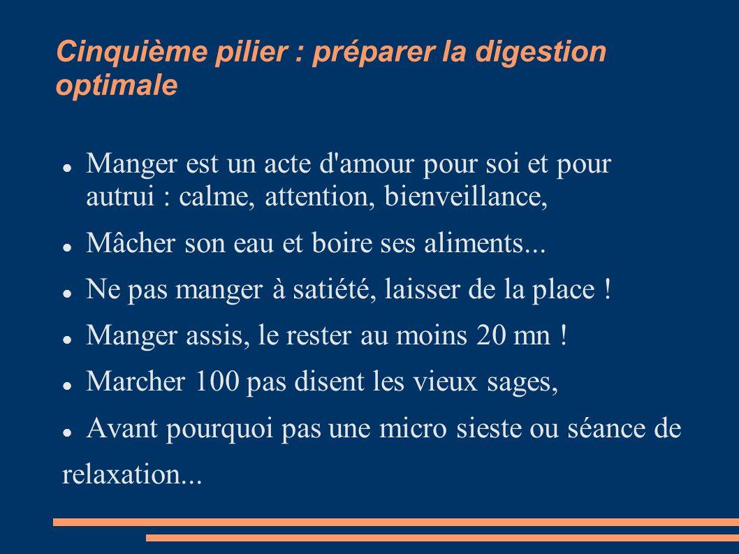 Cinquième pilier : préparer la digestion optimale