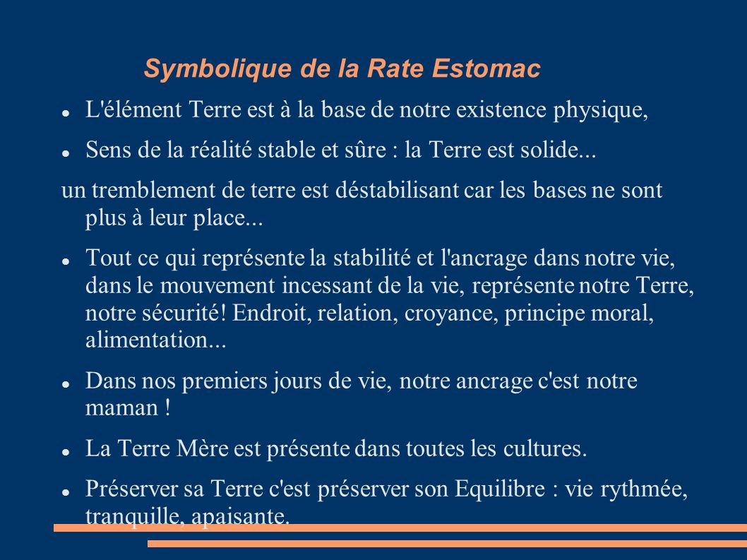Symbolique de la Rate Estomac