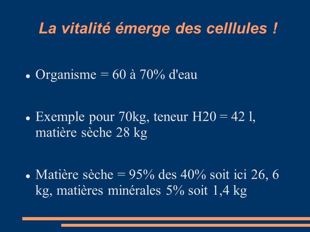La vitalité émerge des celllules !
