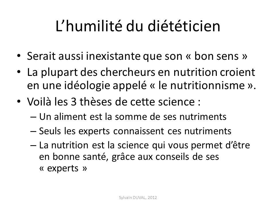 L'humilité du diététicien