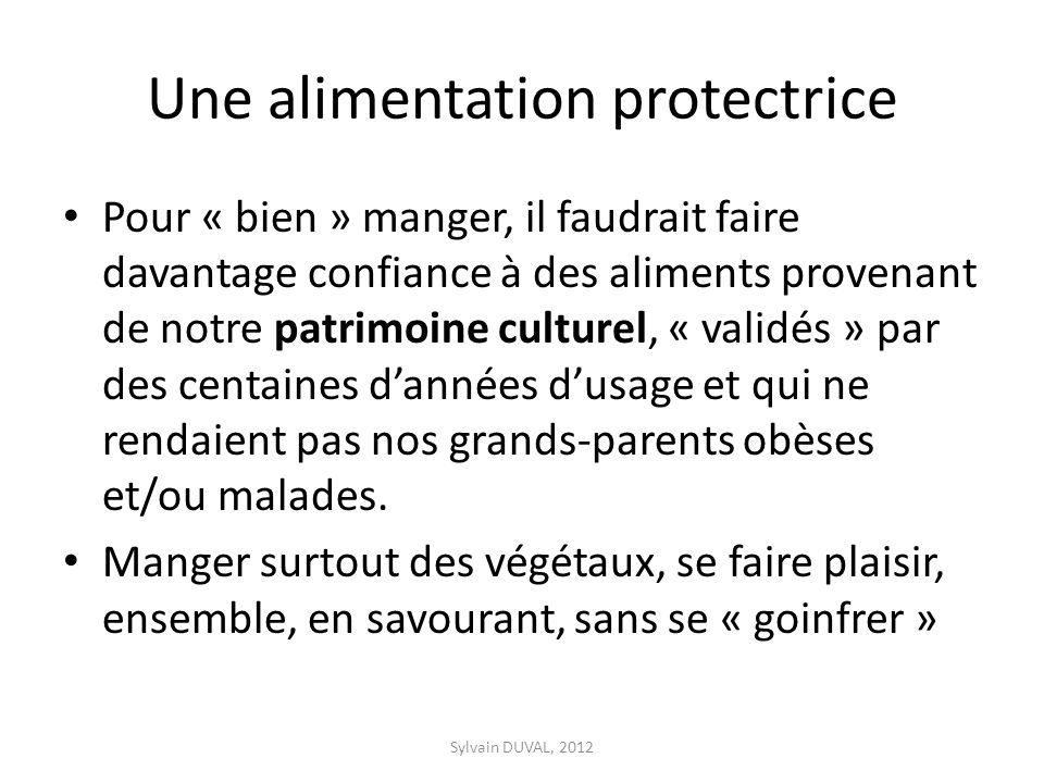 Une alimentation protectrice