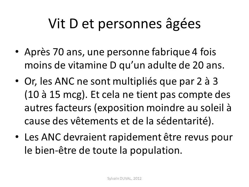 Vit D et personnes âgées