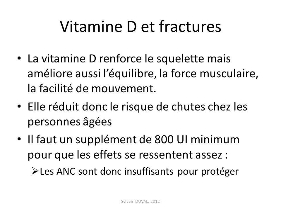 Vitamine D et fractures
