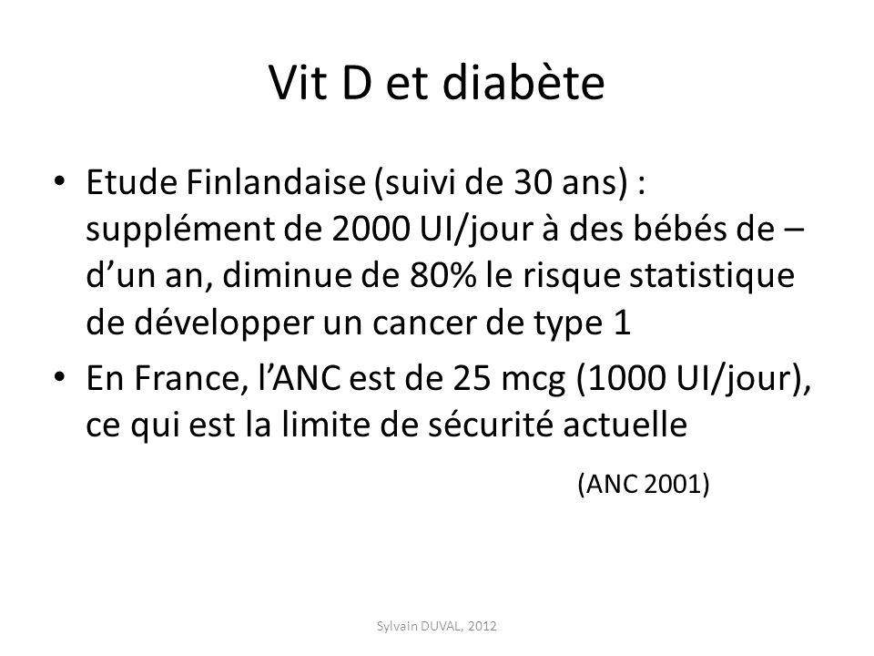 Vit D et diabète