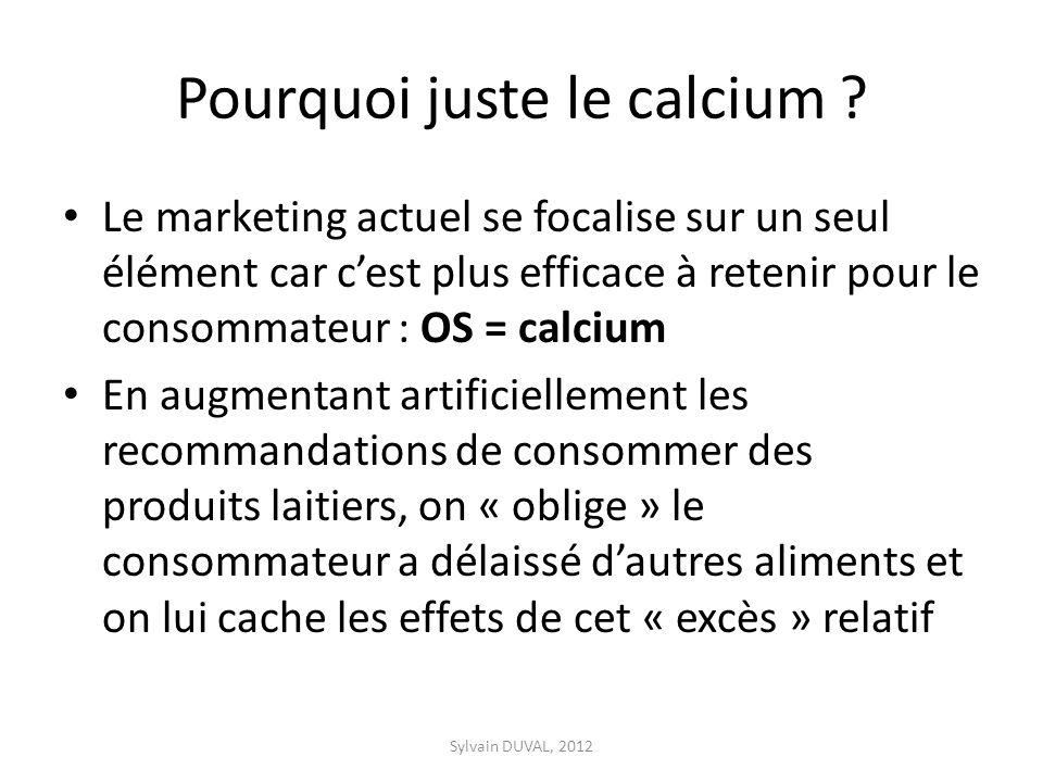 Pourquoi juste le calcium