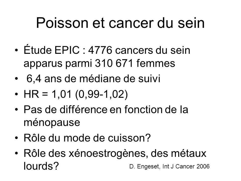 Poisson et cancer du sein