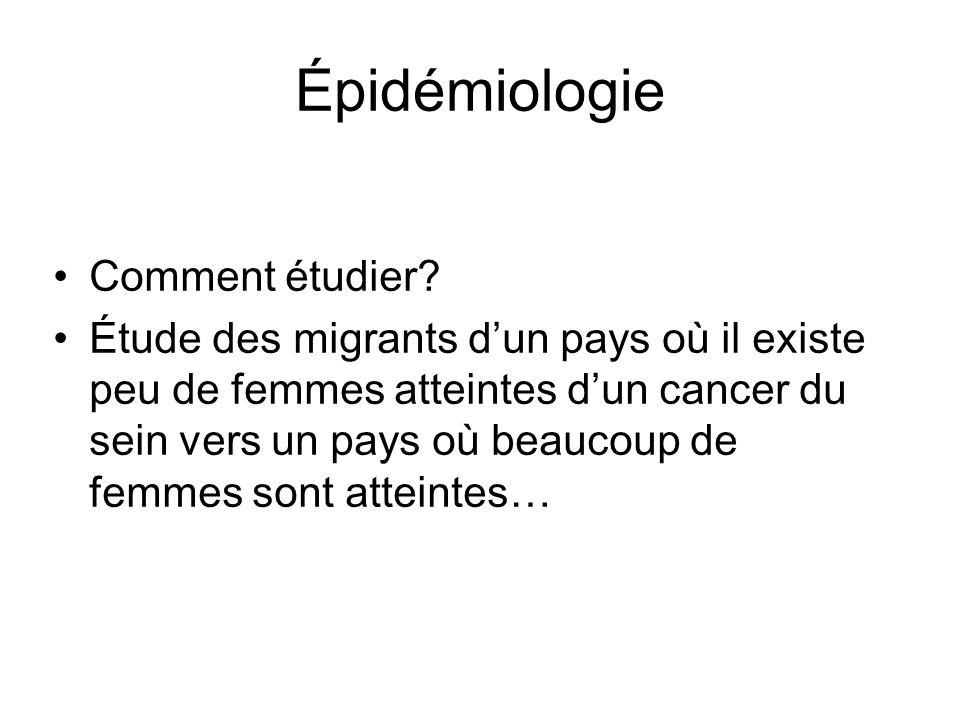 Épidémiologie Comment étudier