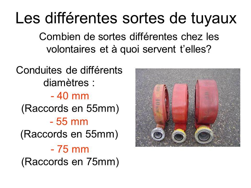 Les différentes sortes de tuyaux