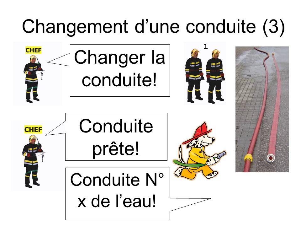 Changement d'une conduite (3)
