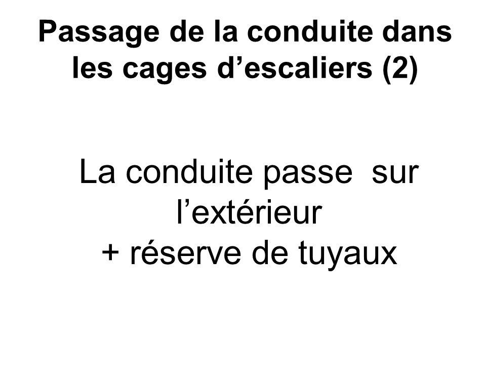 Passage de la conduite dans les cages d'escaliers (2)
