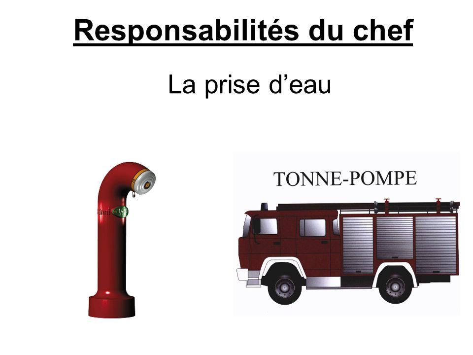 Responsabilités du chef