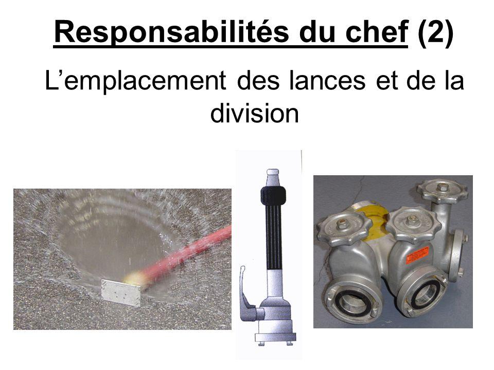 Responsabilités du chef (2)