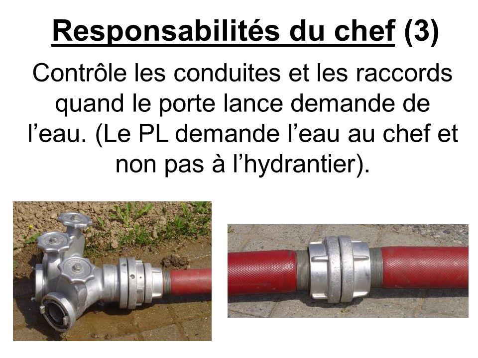 Responsabilités du chef (3)