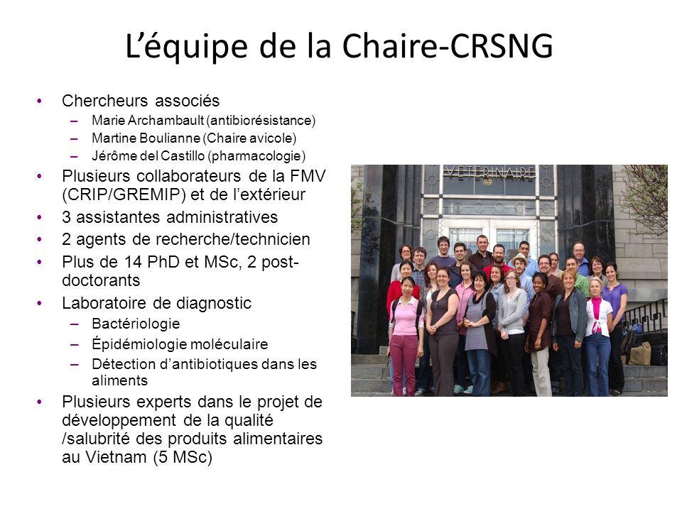 L'équipe de la Chaire-CRSNG