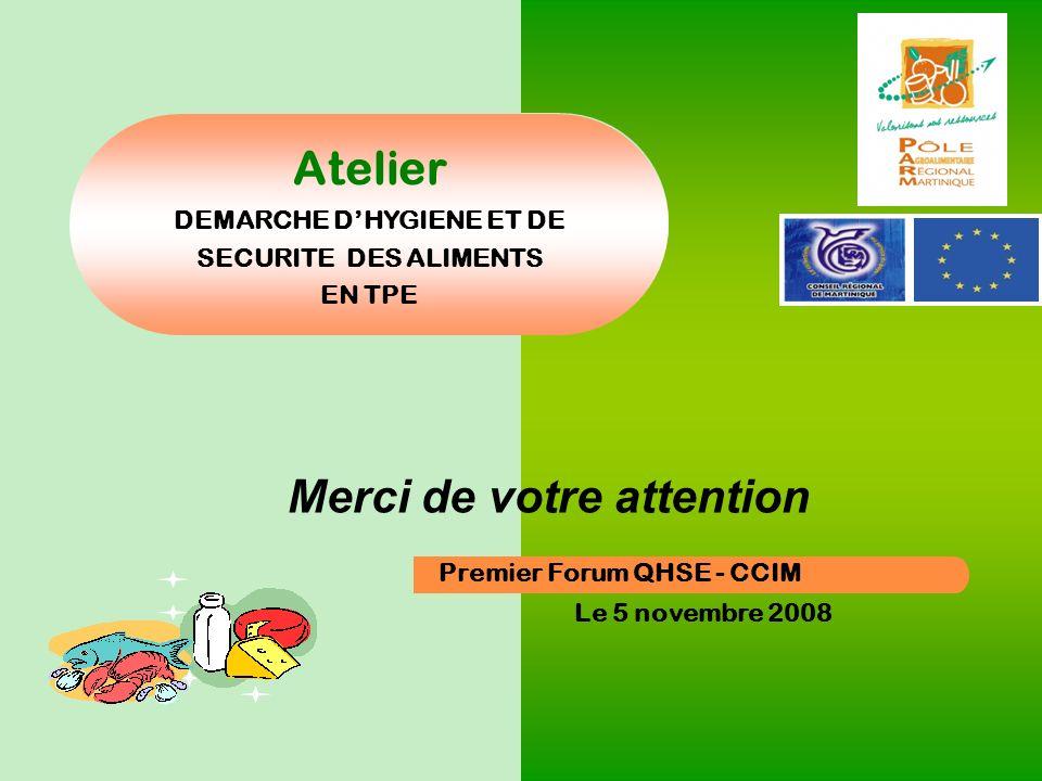 DEMARCHE D'HYGIENE ET DE SECURITE DES ALIMENTS