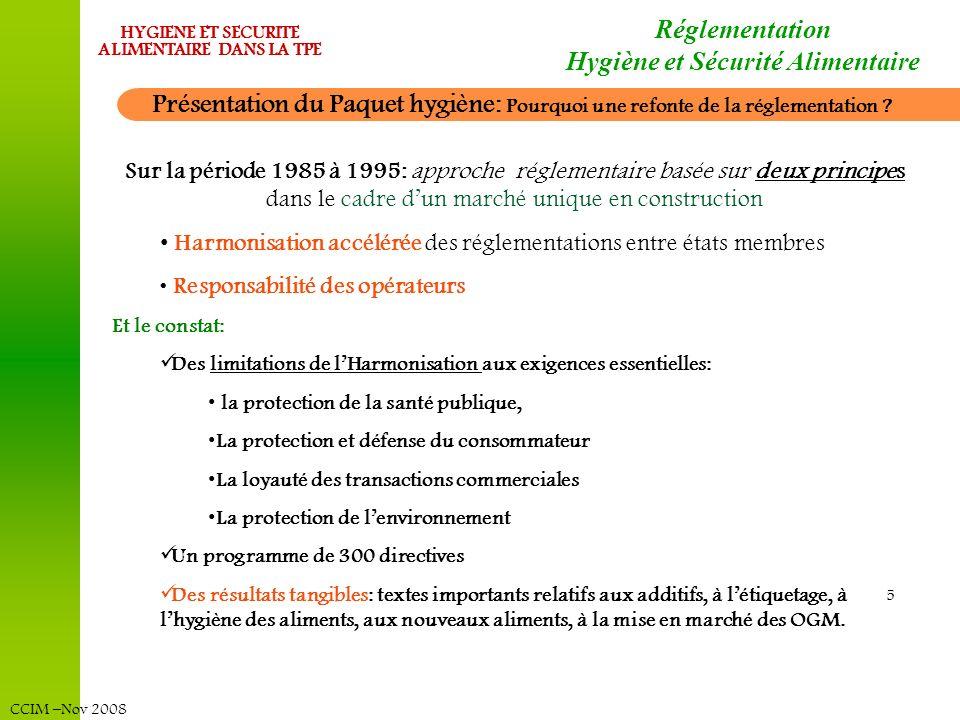 Réglementation Hygiène et Sécurité Alimentaire