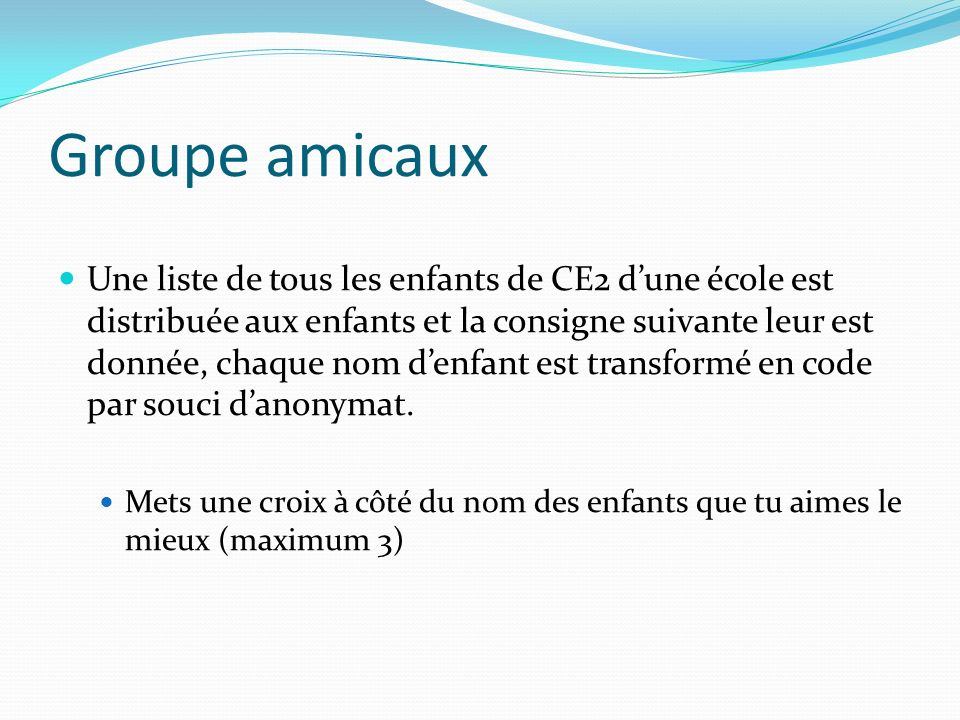 Groupe amicaux