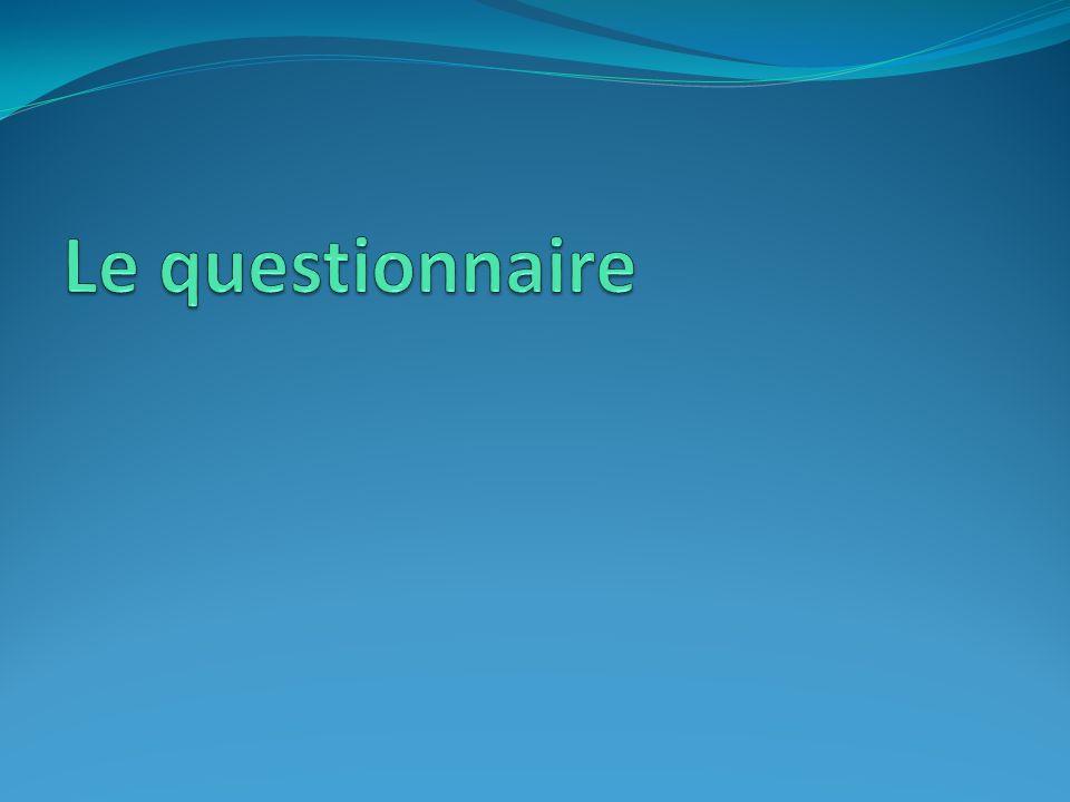 Le questionnaire