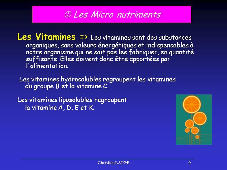  Les Micro nutriments