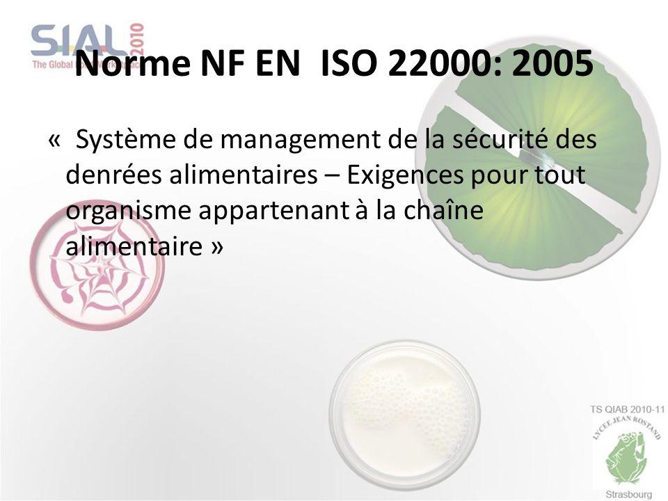 Norme NF EN ISO 22000: 2005