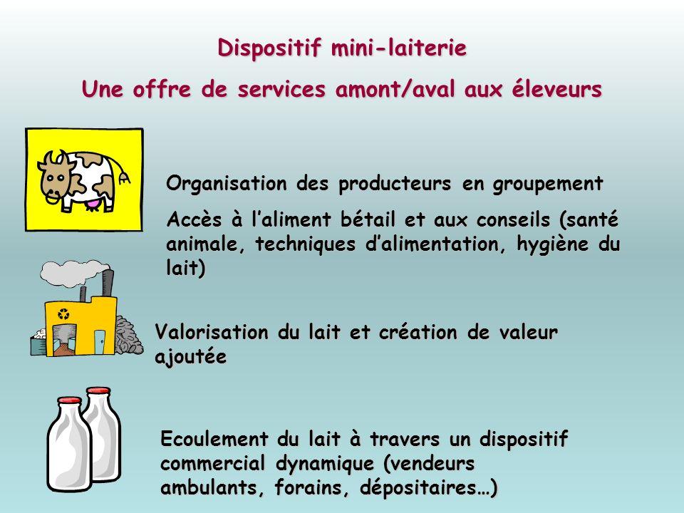 Dispositif mini-laiterie Une offre de services amont/aval aux éleveurs