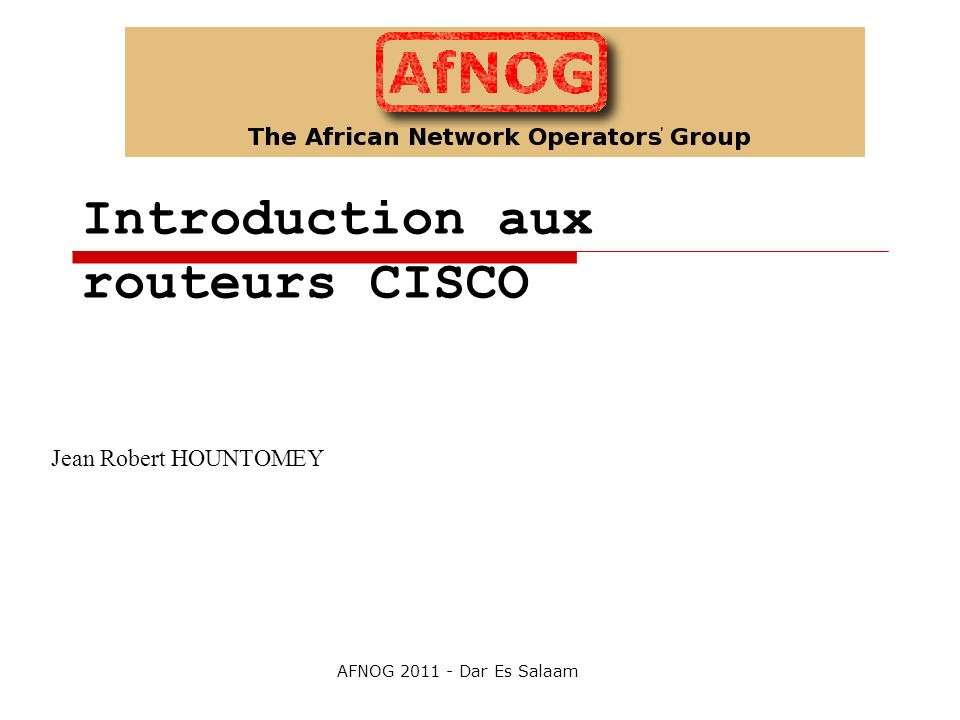 Introduction aux routeurs CISCO