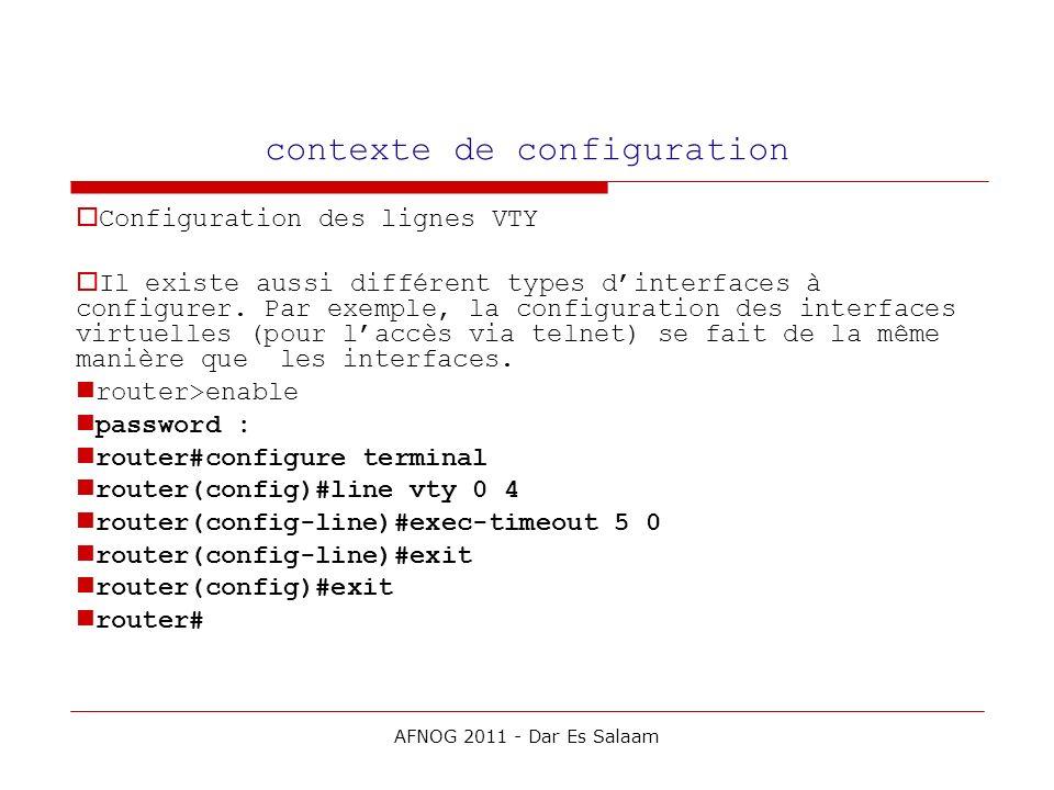 contexte de configuration