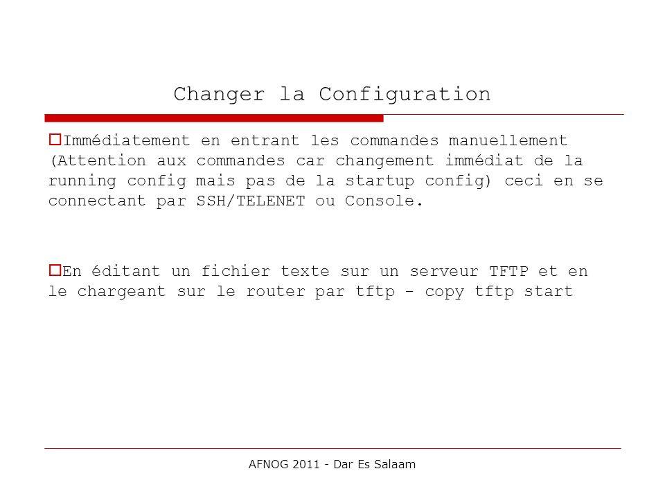 Changer la Configuration